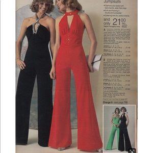 Pristine Vintage 1970s JCPenney Evening Jumpsuit❣️